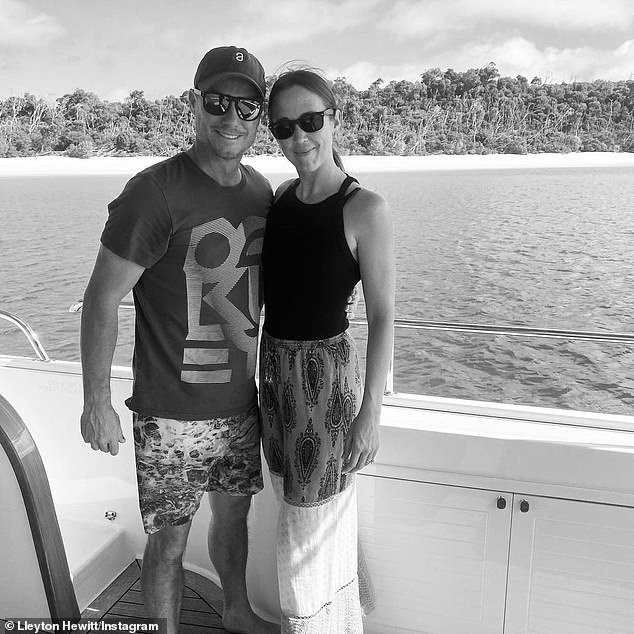 Double the celebrations:Australian tennis champion Lleyton Hewitt shared a sweet tribute to his wife Bec on Friday. Hitting two birds with one stone he wished her well on her birthday and celebrated their wedding anniversary, sharing a photo of the pair to Instagram. Both pictured