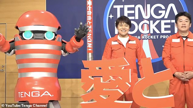 'Since the company was founded, I¿ve firmly believed that there will eventually be a huge need for TENGA in space,'Tenga president Koichi Matsumoto told IFLScience. Pictured: the launch of the Tenga Rocket project earlier this year featured a man-size robot sex toy transformer
