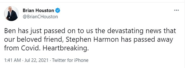 Hillsong founder Brian Houston confirmed news of his death in a tweet on Thursday. Ben is Houston's son and a pastor in the church