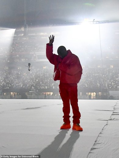 Kanye West 'arrives virtually TWO HOURS late' to his Donda album listening celebration in Atlanta