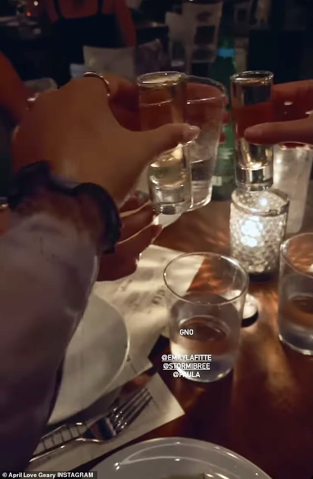 A closer look: Geary shared several videos taken during the evening on his Instagram story to show his followers what happened at the restaurant