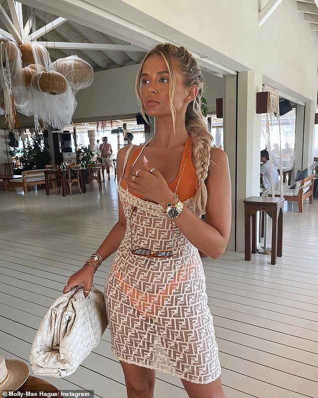 Shopping madness: Molly-Mae Hague has given her followers a glimpse of her incredible holiday wardrobe in recent days, which currently stands at around £ 10,000