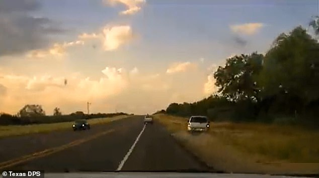 Dashcam video taken from a Texas trooper shows a chase of a human smuggler's vehicle in the border town of Del Rio
