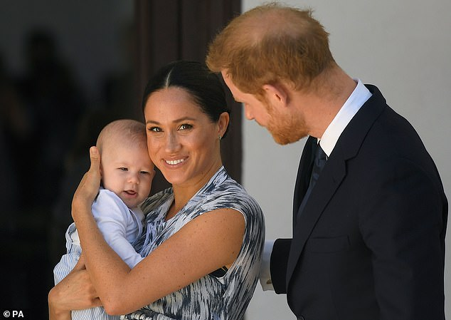 Such was the secrecy surrounding the christening of Harry and Meghan's son Archie (pictured) that senior bishops only learnt why the Archbishop was absent after Palace officials released two photographs after the service