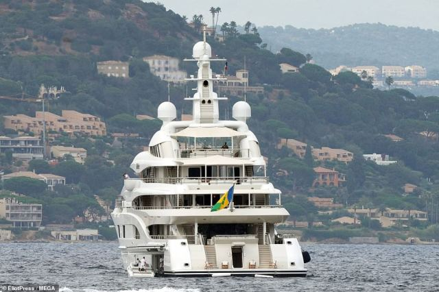 The massive yacht gave them plenty of room to party as they celebrated JLo's birthday