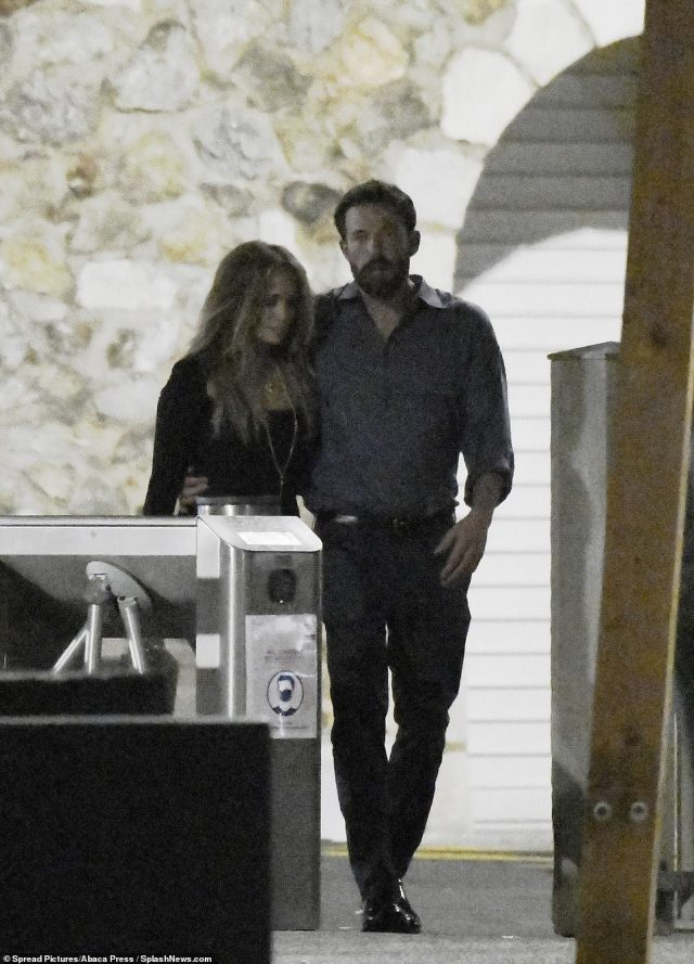 Travel: The couple flew in from Los Angeles, where Lopez was spotted sporting a beaming smile outside her offices in West Hollywood earlier this week