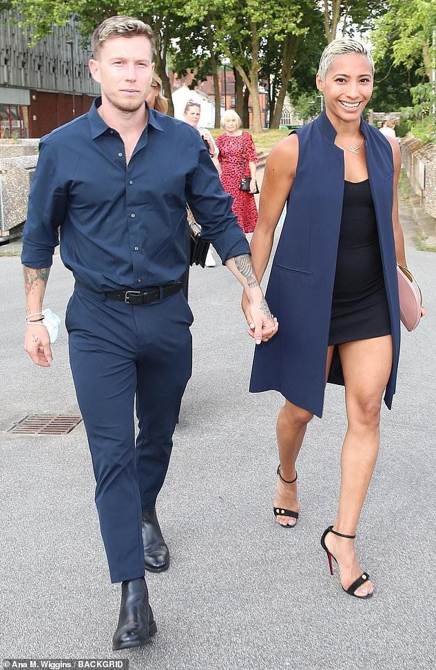 New romance: It comes after Karen's new boyfriend has been revealed as fitness proJordan Jones Williams