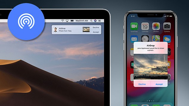 The teen used the AirDrop feature on the Apple iPhone, which allows owners of devices using either the iOS and macOS operating systems to share files if connected through a wireless internet feed or Bluetooth