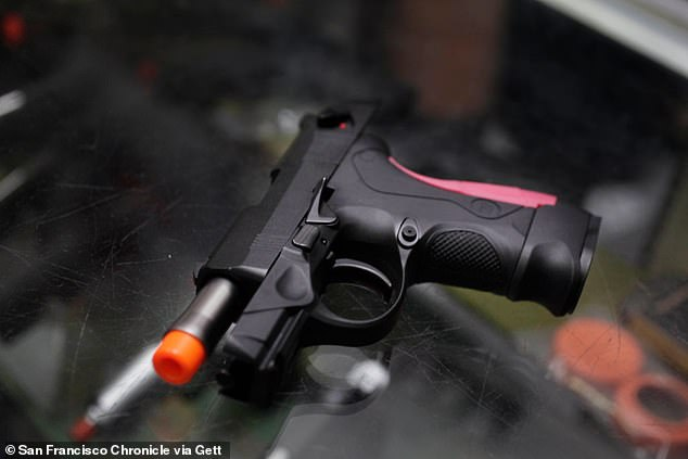 A teen on board sent pics of a toy airsoft gun (like the one seen in the stock image above)