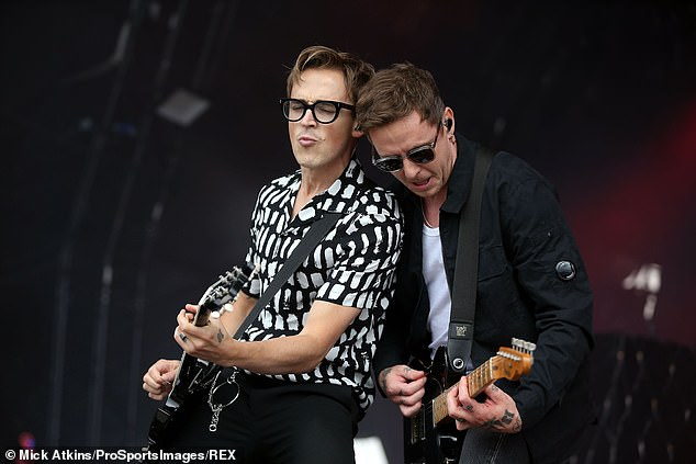"""Finally: The official MCFly page captioned a photo of the band: """"York, we've arrived.  First show in 18 months, let's go! '"""