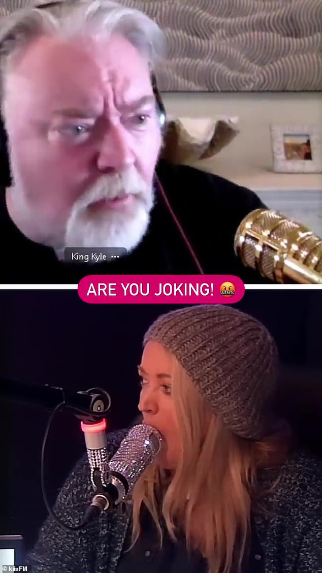 Living on the Limit: Radio presenter Kyle Sandilands (top, with Jackie 'O' Henderson) almost ended up in hot water after remembering a one night stand from there ten years