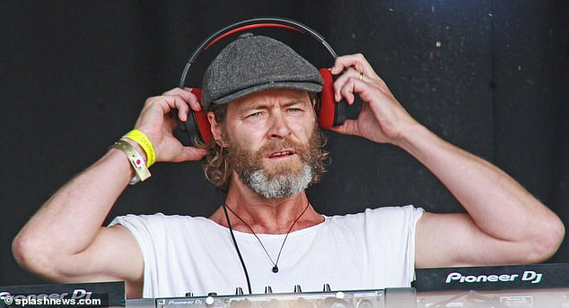 Multi-talented: Elsewhere at the weekend event, Take That's Howard Donald also showed off his skills on the decks and performed a DJ set