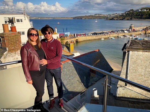 Anniversary:Ben and new mum Georgie – who works for travel company Haven - celebrated their three year wedding anniversary in May with a trip to Cornwall