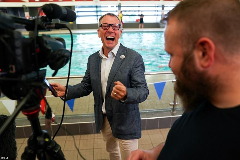 British Swimming CEO Jack Buckner was in tears at Uttoxeter Leisure Centre as Adam won again