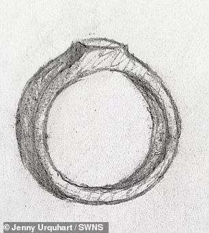 In a desperate bid to get it back, she also drew a picture of the ring to show people in the town