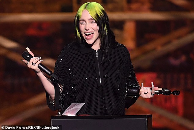 This weekend!Billie Eilish, 19, has announced details of her upcoming BBC TV special, Billie Eilish: Up Close, which will air on Saturday on BBC One at 10.30pm (Pictured in 2020)