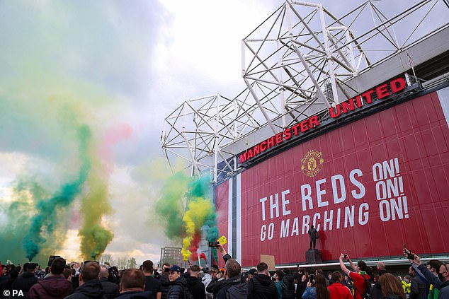 United fans staged a protest on May 2 which led to their game with Liverpool being postponed