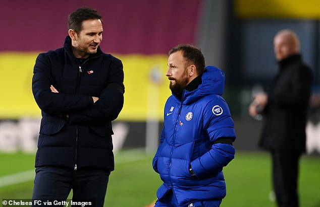 Morris was previously assistant manager at Chelsea under ex-Blues boss Frank Lampard (left)