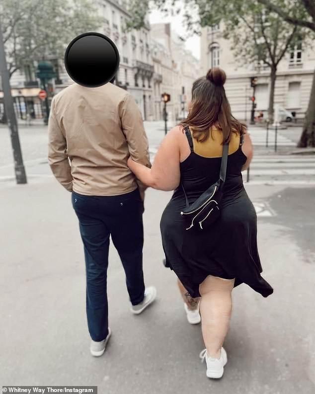 New romance: The duo could be seen posing outside The Louvre, sightseeing and at different restaurants
