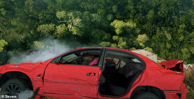 Will they survive?The action-packed clip has hinted that one character may not survive a car accident after a red car tumbles down a cliff