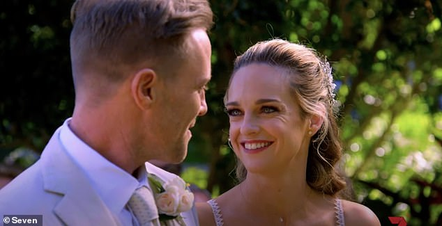 Wedding bells:The trailer also revealed Summer Bay doctors Tori, played by Penny McNamee, and Christian, played by Ditch Davey, will finally tie the knot