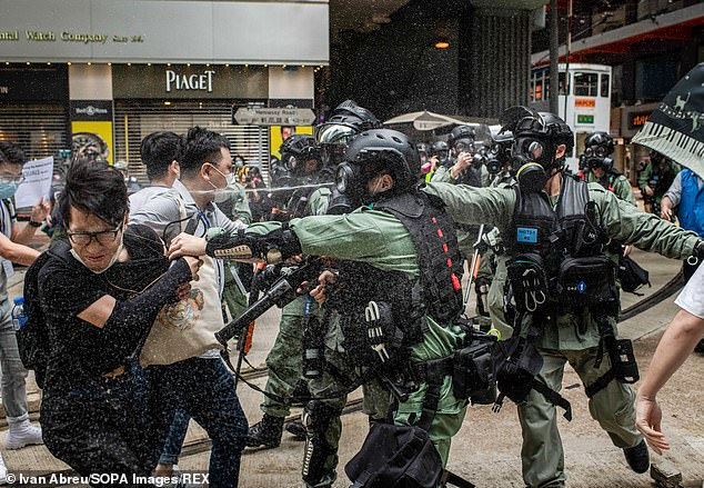 The national security law was mandated by the Chinese legislature following increasingly violent protests against China's growing influence in Hong Kong