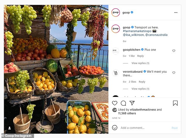 Goopy issue:It's possible Khloé came across the image on the official Instagram for Gwyneth Paltrow's Goop brand. The vacation photo was posted to the Goop Instagram feed on June 14, with Lisa's permission