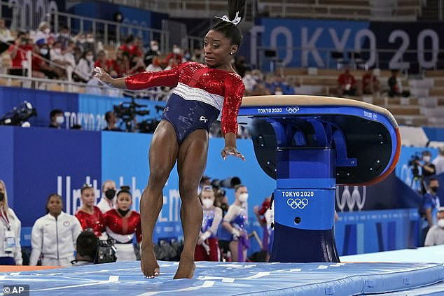 USA were forced to settle for silver with key star Simone Biles picking up an injury early on
