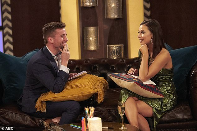 Happily ever after?After his heartbreaking exit from The Bachelorette - due in no small part to his kissing skills - there might be a happy ending after all for the math teacher who has been 'talking' with Kelly since taping (pictured with Katie Thurston)
