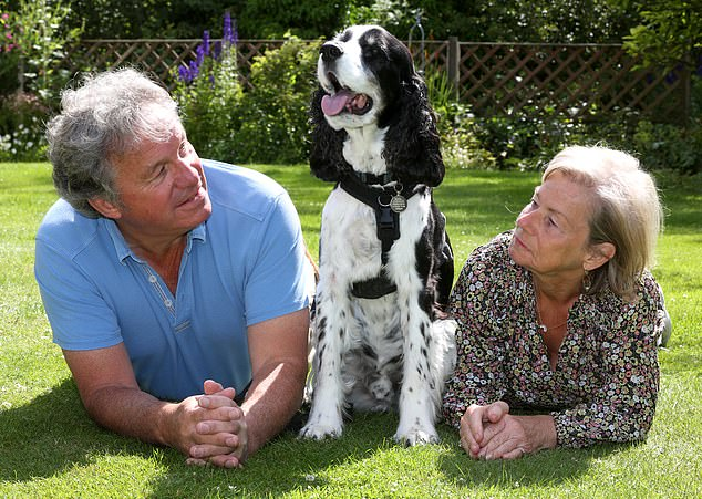 Price hike: Paul Davidson and partner Pat with ten-year-old springer spaniel William