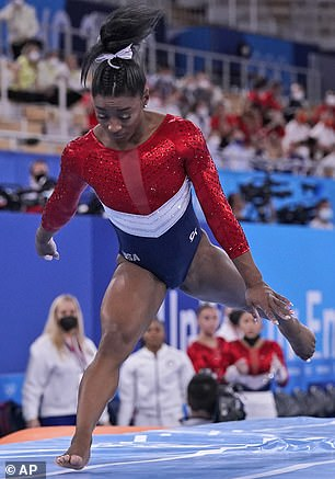 Hard to handle: The 24-year-old gymnast pulled out of the competition 'to focus on her mental health' after an unexpected error on vault