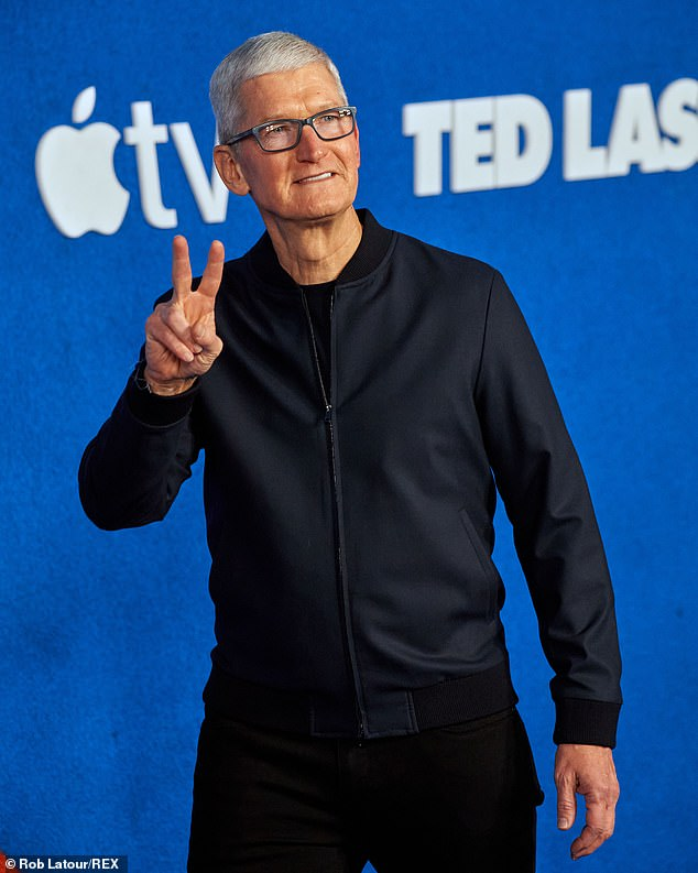 Tim Cook, the CEO of Apple, on Tuesday celebrated the best quarterly results in the company's 45-year history.Apple is on pace for its best fiscal year ever, with a projected profit of $86 billion for the 12-month period ending in September