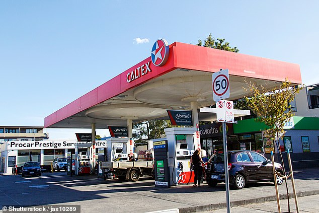 Unleaded petrol prices have reached a high of 176.9 cents per litre in Melbourne as Victorians get back on the road after lockdown was lifted (stock image)