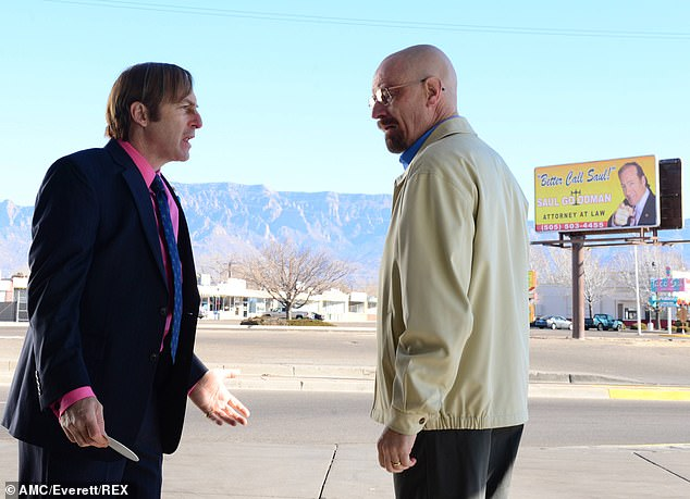 Breakout: Bob's character first featured in the iconic series Breaking Bad alongside Bryan Cranston