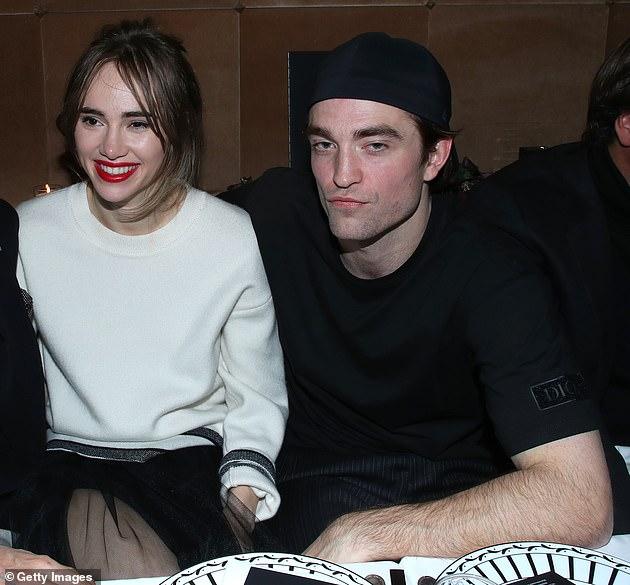 Wedding bells?  Robert Pattinson and Suki (pictured in January)