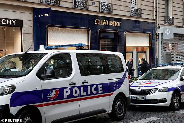 A spokesman for Paris prosecutors said: 'An investigation into robbery has been opened,' with the city's Criminal Brigade leading the enquiry