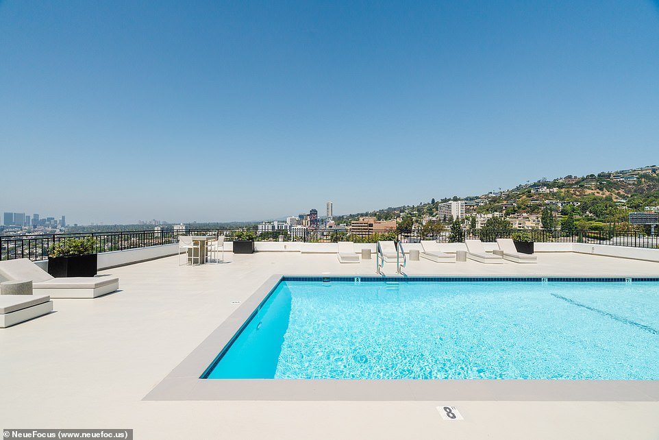 Pool day: There's also a brand new rooftop terrace with multiple entertainment areas, a new pool, contemporary loungers, and stunning 360 views of Los Angeles