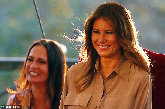 Grisham served as First Lady Melania Trump's communications director before being briefly named White House Press Secretary. She was then replaced byKayleigh McEnany