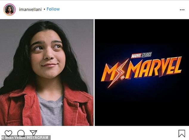 New Blood: Iman Vellani, who will play the Kamala Khan version of Captain Marvel in the upcoming Ms. Marvel series, is also set to appear in the film
