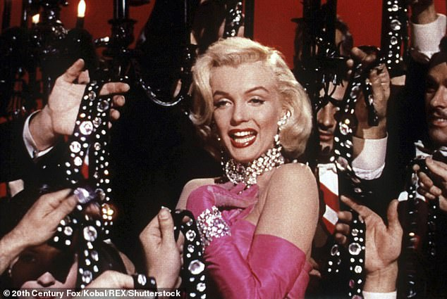 Former leads: Naomi Watts and Jessica Chastain were both attached to the feature's leading role, although they both dropped out; Monroe is seen in 1953's Gentlemen Prefer Blondes