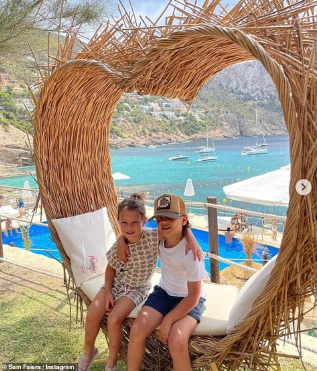 Adorable: The Mummy Diaries star gushed about the luxe holiday destination before referring to her son and daughter as her 'world'