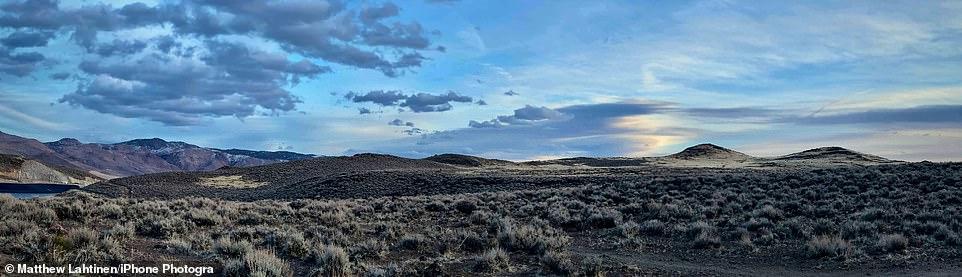 Sierra Nevada Sky: TheHuffaker Hills in Nevada are shown in this panoramic photograph byMatthew Lahtinen