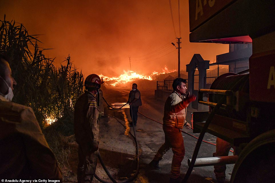 Firefighters continue to battle the 17 wildfires that have broken out across southern Turkey. Four people are dead