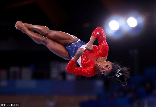 Concerns: Simone's relaxing weekend came after a troubled Olympics in Tokyo, which saw her pull out of five event finals over struggles with her mental health