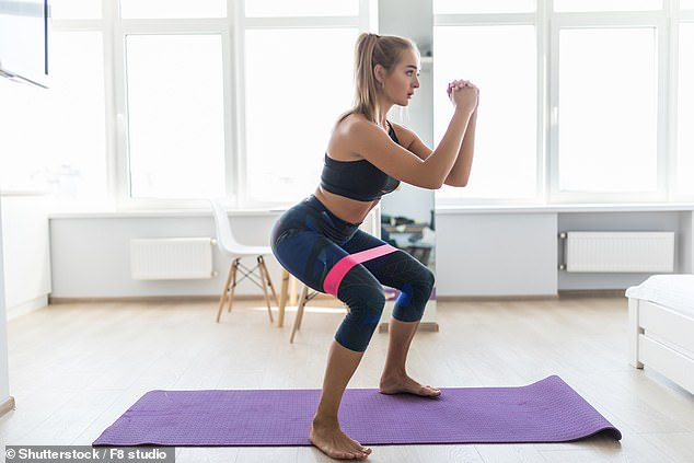 Fitness First says that Covid ruined many people's exercise regimes, with nearly half (45 per cent) of those polled saying they are still stuck in 'fitness doldrums' (stock)