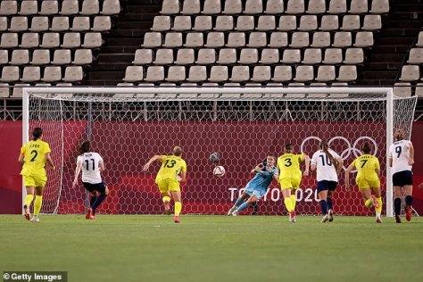 Caroline Weir saw an extra time penalty saved by Teagan Micah as GB were denied