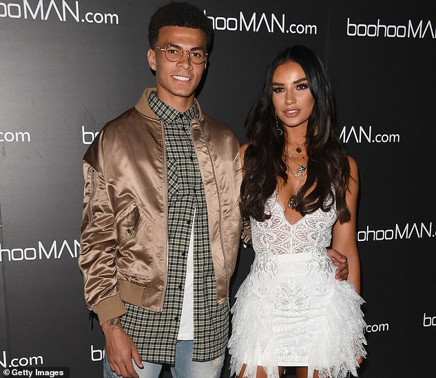 Happier times: Ruby parted ways with Spurs ace Dele, 25, in February following a five-year romance (pictured 2018)