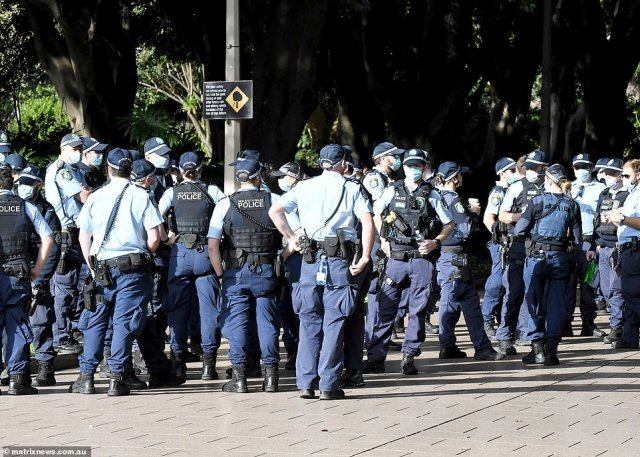 NSW Premier Gladys Berejiklian vowed those who gathered for the illegal demonstration would face 'the full force of the law'
