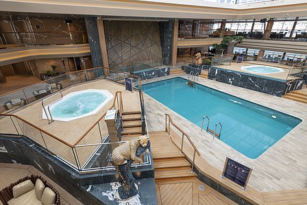 Dive into one of the swimming pools on board MSC Grandiosa