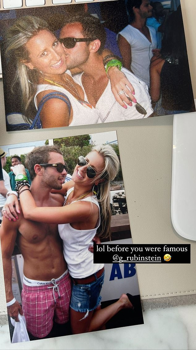 Friends:The final picture is an old photo of Roxy hanging with Luxe Listings Sydney star Gavin Rubinstein (pictured)
